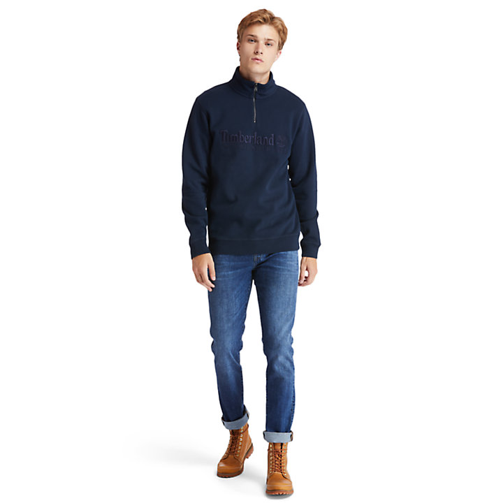 Sweat-shirt Outdoor Heritage pour homme en bleu marine-