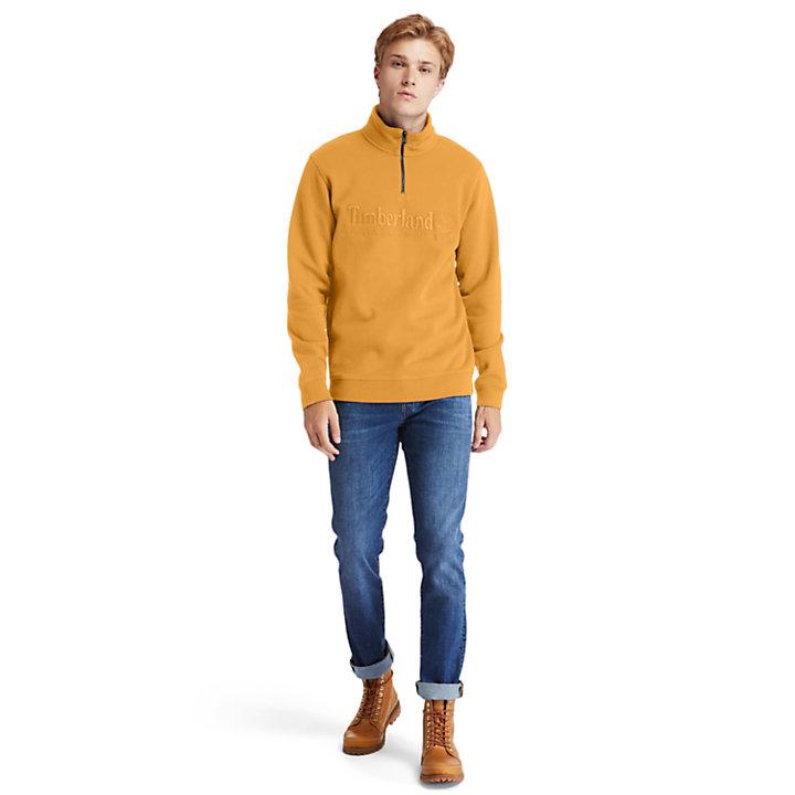 Outdoor Heritage Reißverschluss-Sweatshirt für Herren in Orange-
