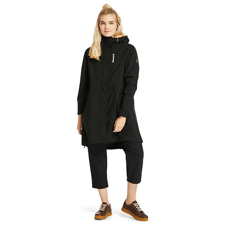 Waterproof Mid-Length Parka for Women in Black-