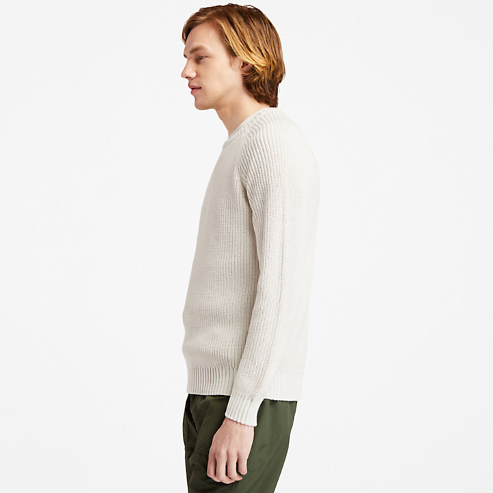 Beards Brook Sweater for Men in White-