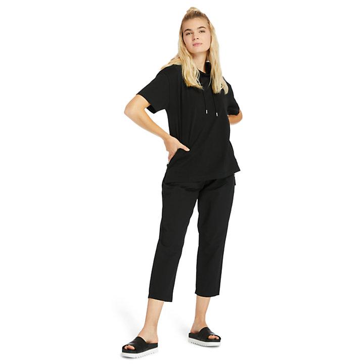 Pantaloni Idrorepellenti da Donna con Gamba Affusolata in colore nero-