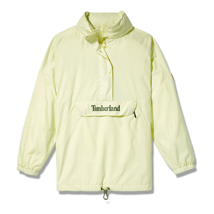 Packable Colour-block Anorak for Women in Light Green-