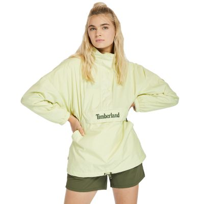 Packable+Colour-block+Anorak+for+Women+in+Light+Green