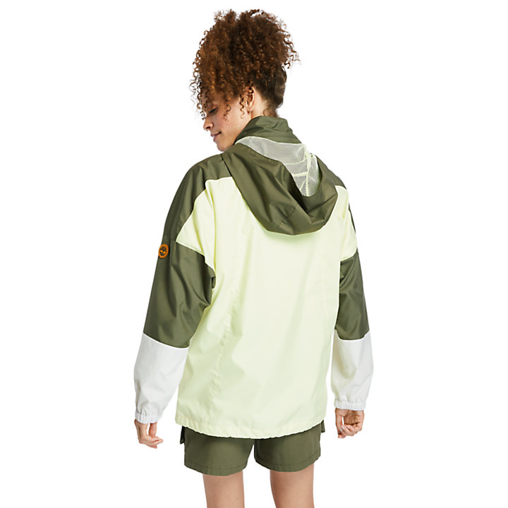 Packable Colour-block Anorak for Women in Green-
