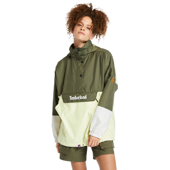 Packable Colour-block Anorak for Women in Green | Timberland