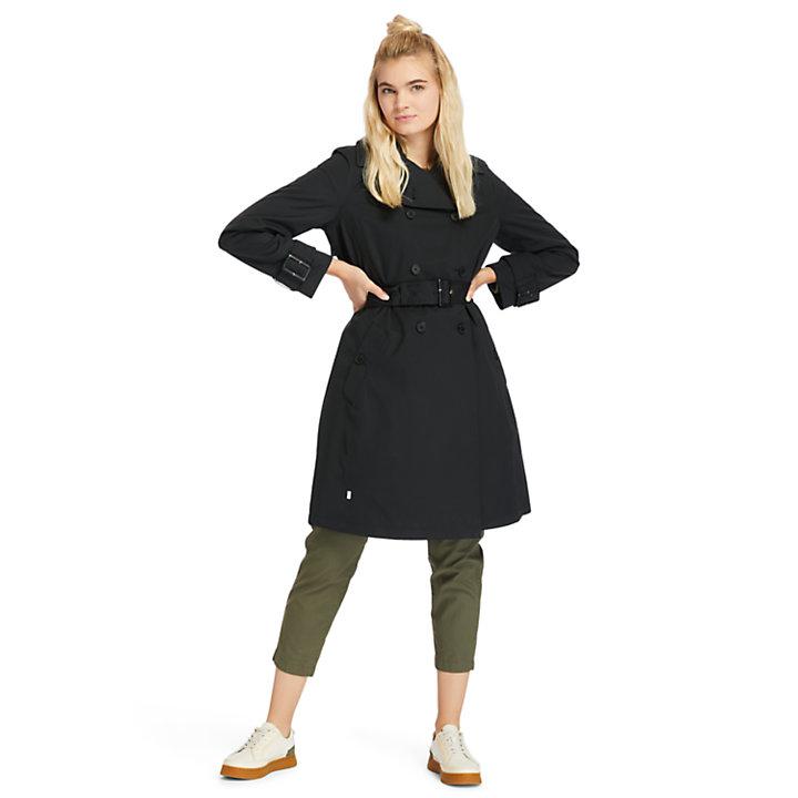 Wasserdichter Trenchcoat für Damen in Schwarz-
