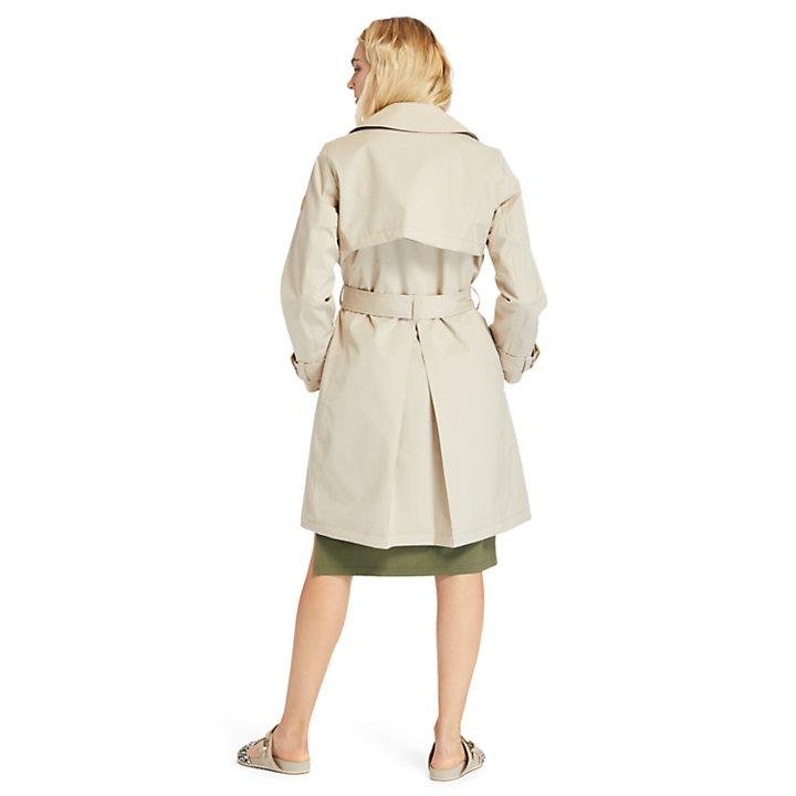 Waterdichte Trenchcoat voor dames in beige-