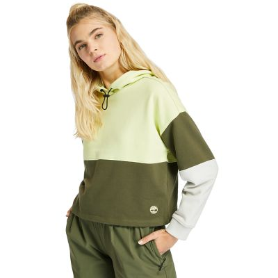 Colourblock+Hoodie+for+Women+in+Light+Green