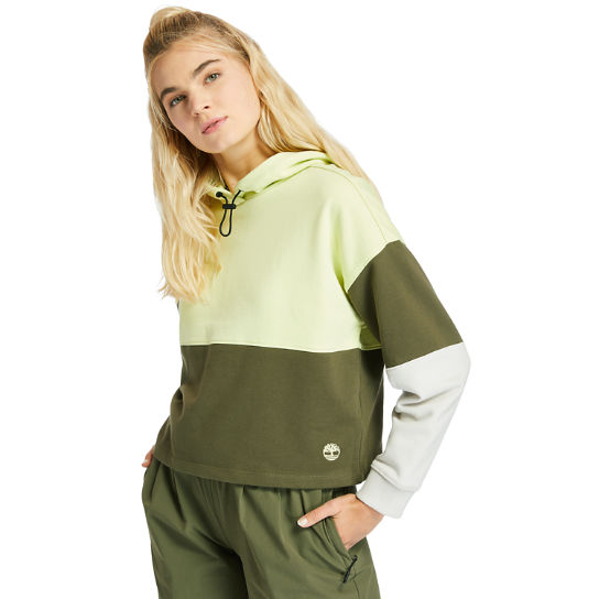 Colourblock Hoodie for Women in Light Green | Timberland