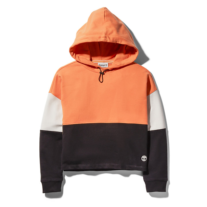 Colourblock Hoody voor dames in roze-