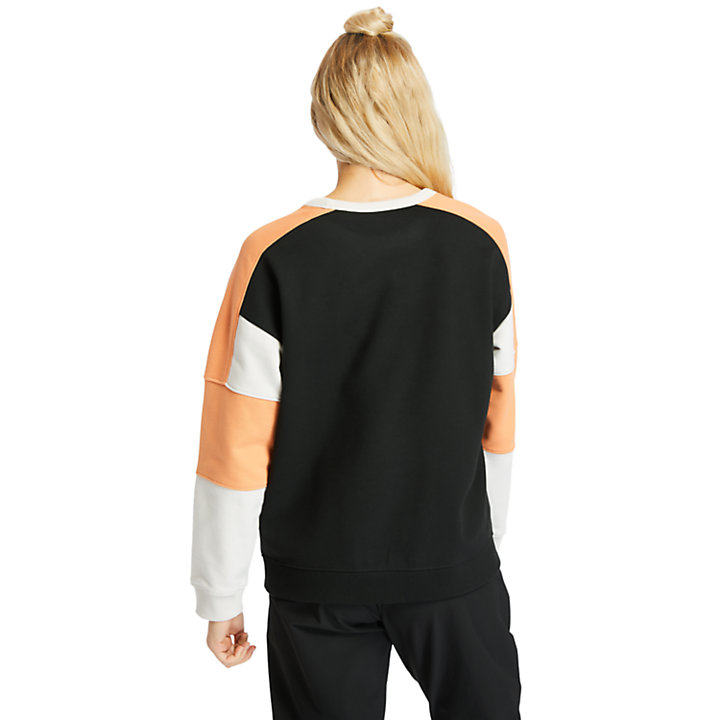 Colour-block Sweatshirt for Women in White-
