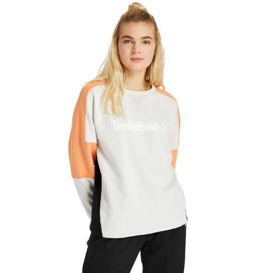 Colour-block Sweatshirt for Women in White | Timberland