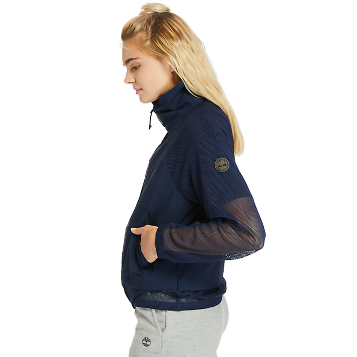 Stipple Print Jacket for Women in Navy-