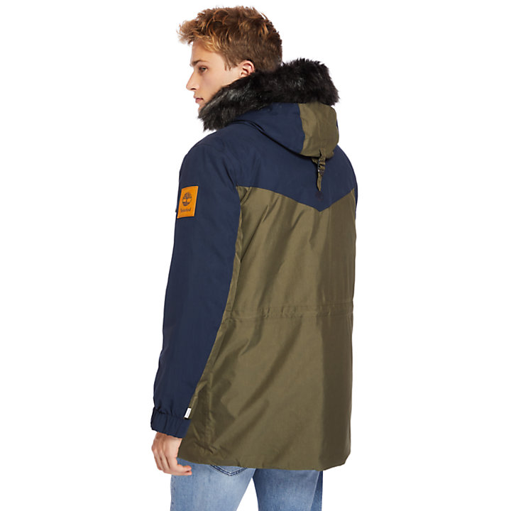 Outdoor Heritage Expedition Parka for Men in Navy/Green-