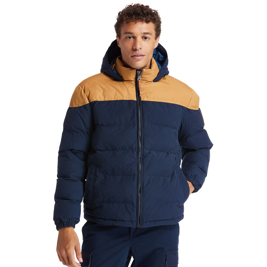 Timberland Welch Mountain Warm Puffer Jacket For Men In Yellow/blue Yellow/blue, Size XXL