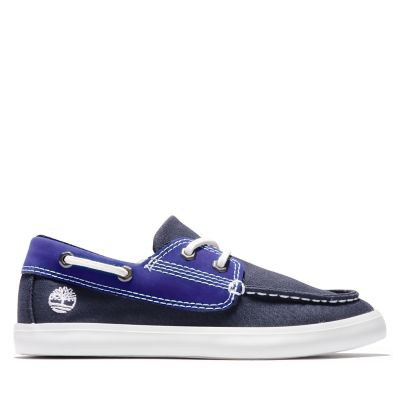 Newport+Bay+Boat+Shoe+for+Junior+in+Navy