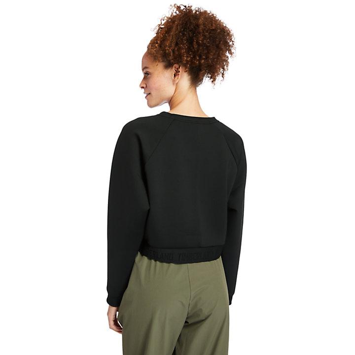Spacer Sweatshirt für Damen in Schwarz-