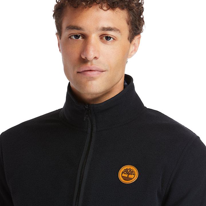 Zip-Front Fleece for Men in Black-