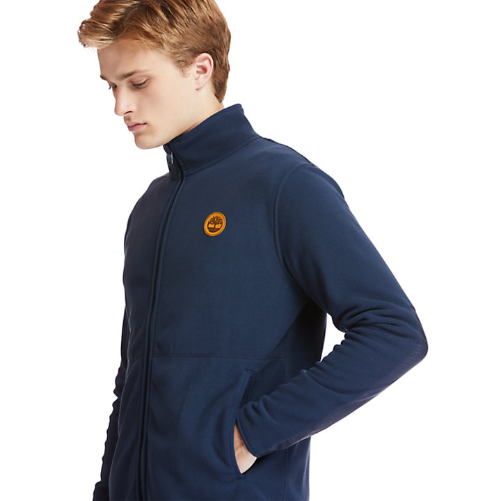 Zip-Front Fleece for Men in Navy-
