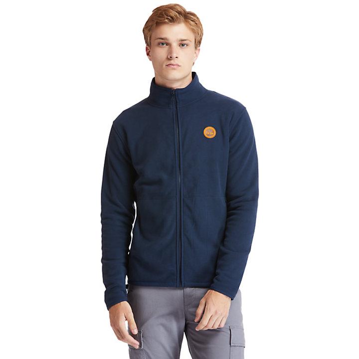 Polaire zippée sur le devant pour homme en bleu marine-