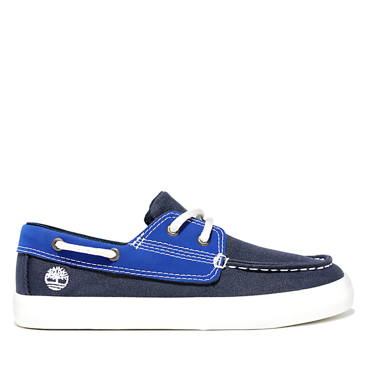 Newport Bay Boat Shoe for Toddler in Navy-