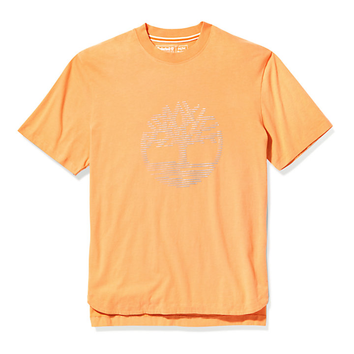 Übergroßes T-Shirt mit reflektierendem Logo für Damen in Pink-