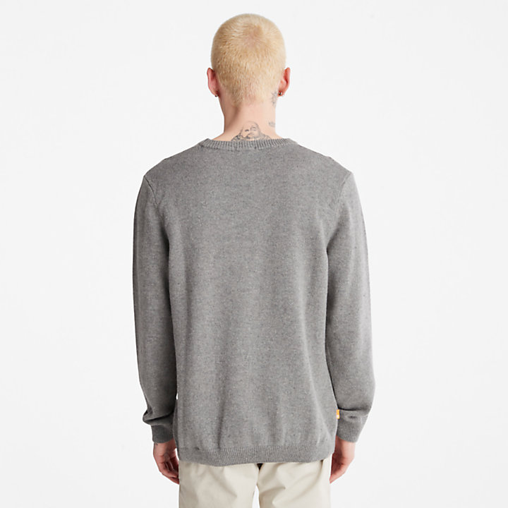 Men's Phillips Brook Wool-Blend Cable Crewneck Sweater in Grey-
