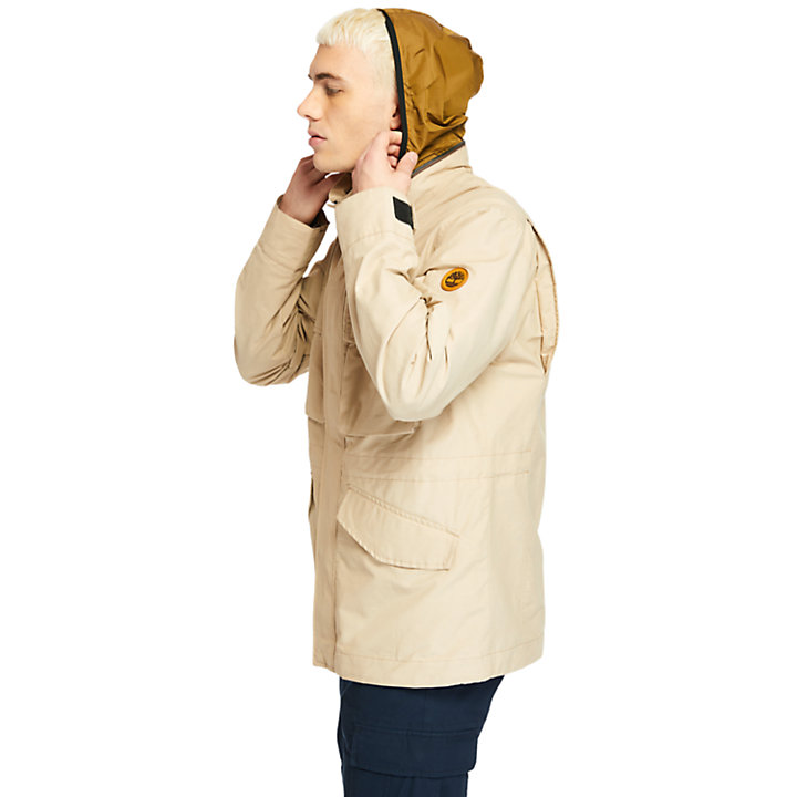 Outdoor Heritage Field Jacket for Men in Beige-