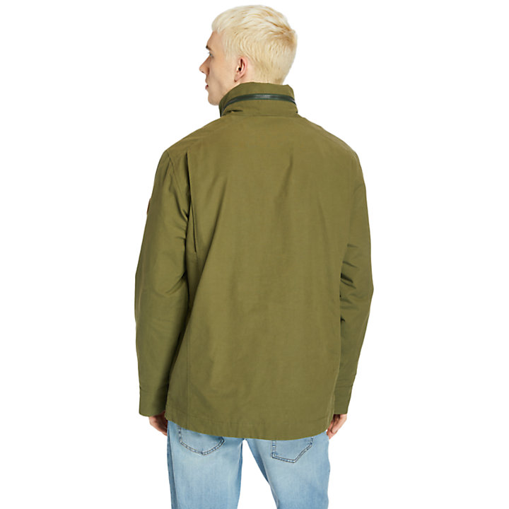 Outdoor Heritage Field Jacket for Men in Dark Green-