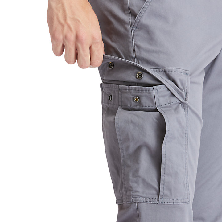 Squam Lake Cargo Trousers for Men in Grey-