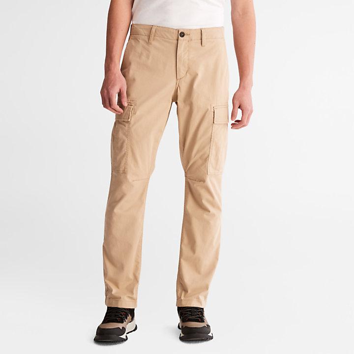Squam Lake Cargo Trousers for Men in Beige-