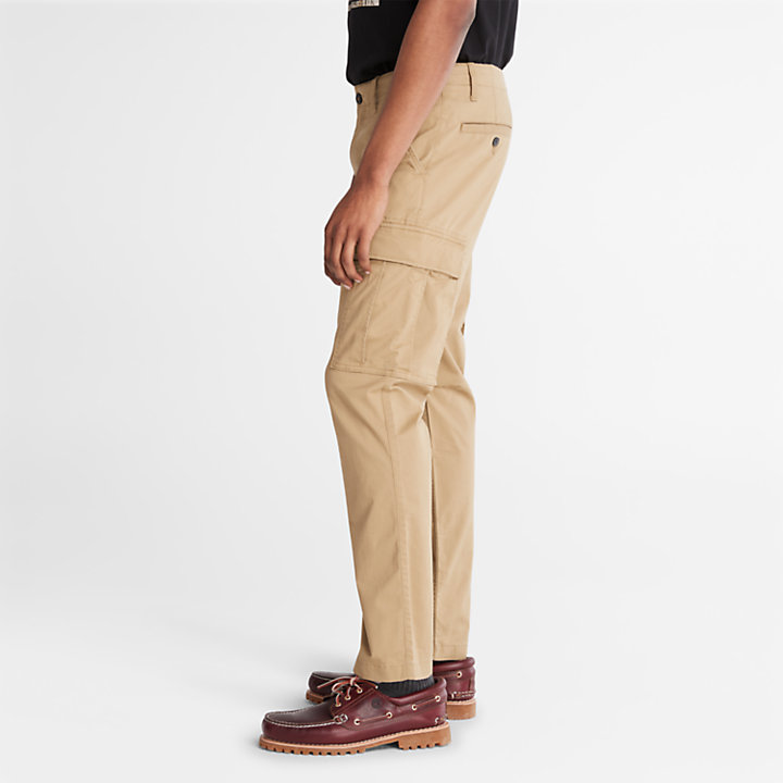 Squam Lake Cargo Trousers for Men in Khaki-