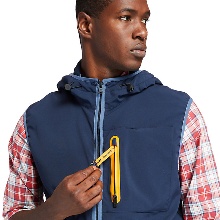 Field Trip Hybrid Vest for Men in Navy-