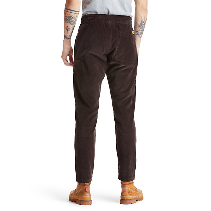 Profile Lake Trousers for Men in Dark Brown-