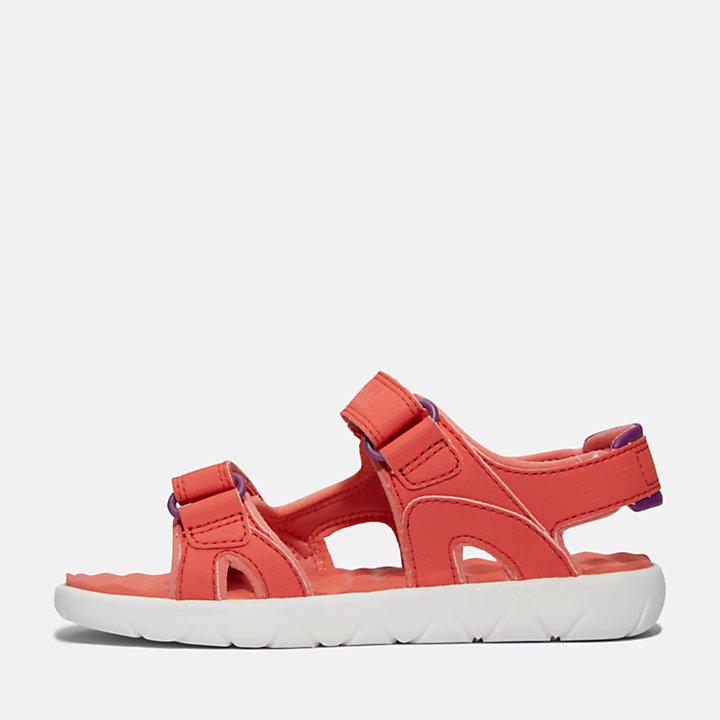 Perkins Row 2-Strap Sandaal voor kids in roze-