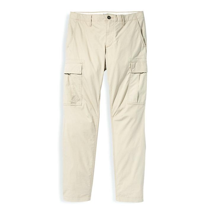 Pantaloni Cargo da Uomo in Popeline in beige-