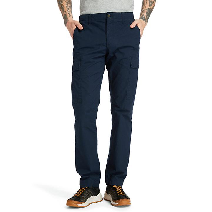 Poplin Cargo Pants for Men in Navy-
