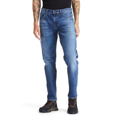 Tacoma+Lake+Distressed+Jeans+for+Men+in+Blue