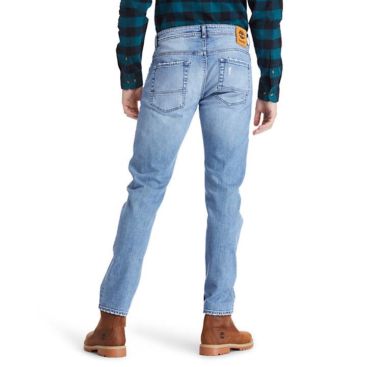 Jeans da Uomo Effetto Consumato Tacoma Lake in blu chiaro-