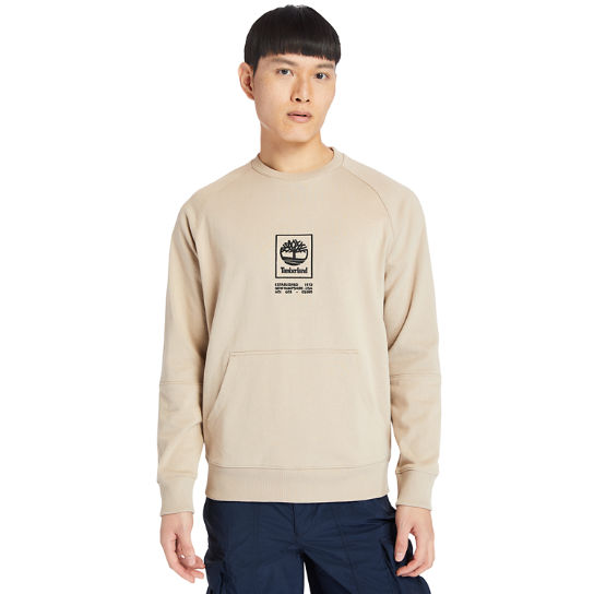 Pouch-pocket Sweatshirt for Men in Beige | Timberland
