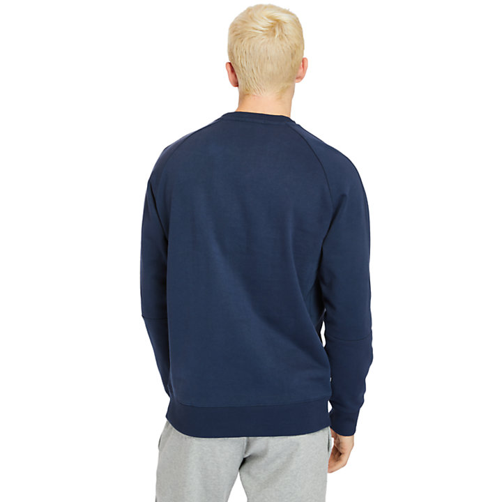 Pouch-pocket Sweatshirt for Men in Navy-