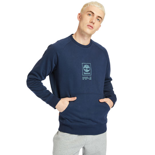 Pouch-pocket Sweatshirt for Men in Navy | Timberland