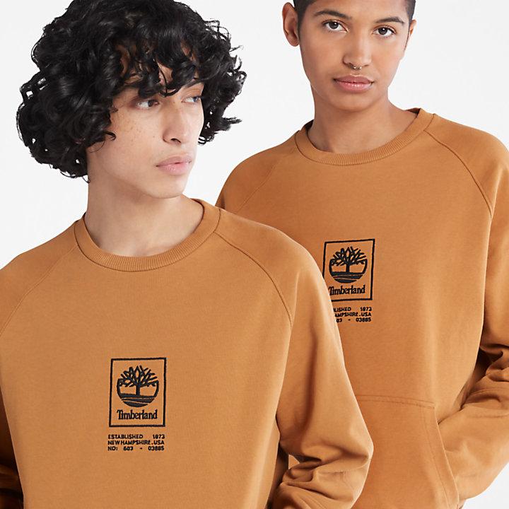 Heavyweight Crewneck Logo Sweatshirt for Men in Yellow-
