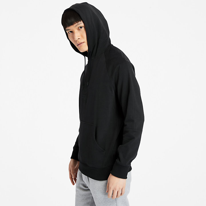 Heavyweight Logo Hoodie for Men in Black-