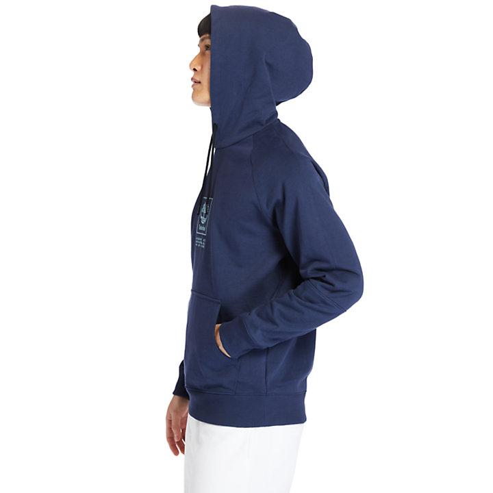 Robuster Logo-Kapuzenpullover für Herren in Navyblau-
