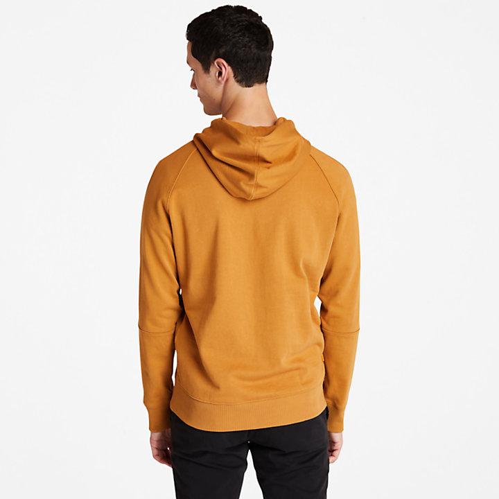 Sudadera Resistente con Capucha y Logotipo para Hombre en amarillo-