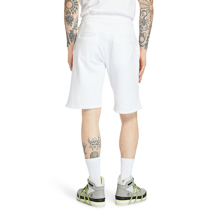 Summer Sweatshorts for Men in White-