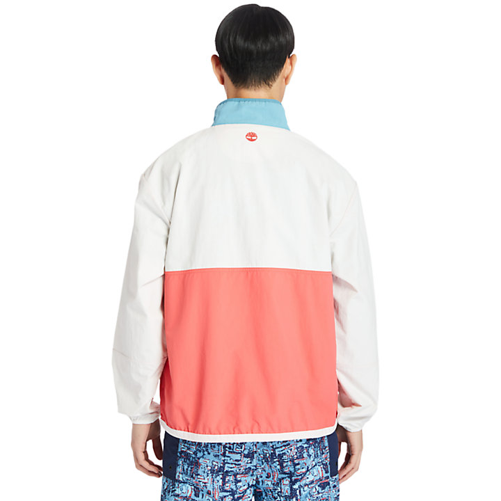 Outdoor Archive Anorak in Men in White/Red-