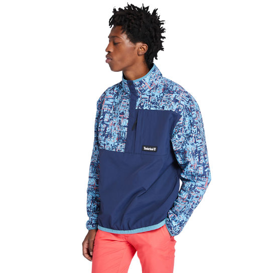Printed Packable Anorak for Men in Navy | Timberland