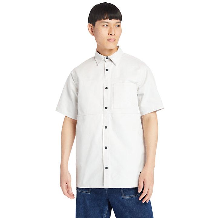 Chemise utilitaire pour homme en blanc-
